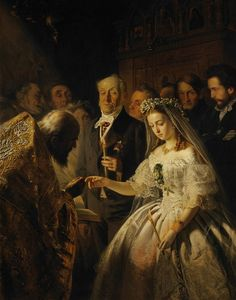 Trademark Fine Art 'The Unequal Marriage' Canvas Art by Vasily Pukirev, Size: 35 x Black Russian Painting, Russian Art, Figure Painting, Artist Canvas, Canvas Art, Ombres Portées, Jane Austen, Portraits, A4 Poster