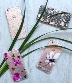 Summertime florals with the Lily, Black Pace, Viola & Iris Cases for iPhone 6/6s and 6 Plus/6s Plus