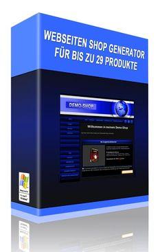 Jetzt endlich ist er da, der neue Webseiten Shop Generator für bis zu 29 Digitale-Produkte.