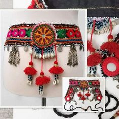 Your place to buy and sell all things handmade Belly Dance Makeup, Belly Dance Belt, Danza Tribal, Tribal Belly Dance, Dance Accessories, Belly Dance Costumes, Tribal Fusion, Fabric Jewelry, Boho