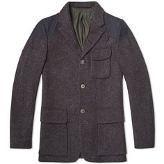 N. Cabourn Mallory Jacket in Black Harris Tweed