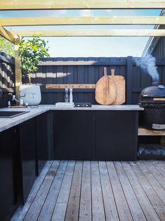 Outdoor Kitchen Bars, Plank, Pergola, Cottage, Exterior, Garden, Ska, Creative, House