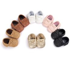 Baby First Walkers Baby Shoes Soft Bottom Fashion Tassels Baby Moccasin Newborn Babies Prewalkers Boots