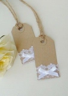 Vintage Lace Placename Tags - www.bynicki.co.uk
