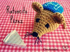 Ratoncito Pérez Amigurumi - Patrón Gratis en Español aquí: http://crochetadas.blogspot.com.es/2014/03/ratoncito-perez-pronto-nos-visitara.html#more