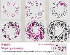 Woggle-Tangle Pattern by molossus, who says Life Imitates Doodles, via Flickr