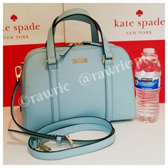 """New Kate Spade felix blue saffiano leather satchel 100% authentic. Blue hydrangea saffiano leather with 14-karat light gold plated hardware and protective metal feet. Inside zip and slip pockets. Zip top closure and fabric lining. Handles drop 4.5"""". Longer detachable and adjustable strap. Measures 11.5"""" (L) x 8.5"""" (H) x 4.5"""" (W). Brand new with tags. Comes from a pet and smoke free home. Kate Spade shopping bag included. kate spade Bags Satchels"""