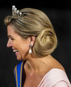 the Antique Pearl tiara When: State Visit from China, March 22nd 2014.