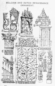 Belgian and Dutch renaissance examples and ornaments A History of Architecture on the Comparative Method by Sir Banister Fletcher