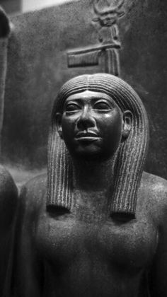King Men-Kau-Re, the goddess Hathor and the deified Hare nome. 4th Dynasty, reign of Men-Kau-Re, c.2551-2523 BC Giza, Men-Kau-Re Valley Temple. The sensitively modelled and beautifully proportioned triad. Egyptian Museum, Cairo - Egypt.
