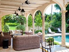 Pool and Veranda, Palm Beach #sothebysliving #palmbeach If you see an image that is posted in error, please let us know and we will remove it.  Thank you.