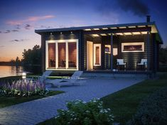 Teuva Pihasauna 32m2 kotimainen | Smartia Maailman mukavin rautakauppa Outdoor Living, Outdoor Decor, New Builds, Tiny House, Small Houses, Gazebo, House Plans, New Homes, Outdoor Structures