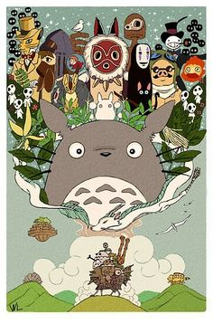 Studio: Ghibli & Movies: Spirited Away / Totoro / Mononoke / Howls moving castle / Ponyo / Cats Return Studio Ghibli Wallpaper, Studio Ghibli Poster, Art Studio Ghibli, Studio Ghibli Tattoo, Studio Ghibli Background, Tattoo Studio, Studio Ghibli Characters, All Studio Ghibli Movies, Howls Moving Castle