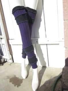 Hippie Long Stockings Extra Long Leg Warmers Upcycled Sweater