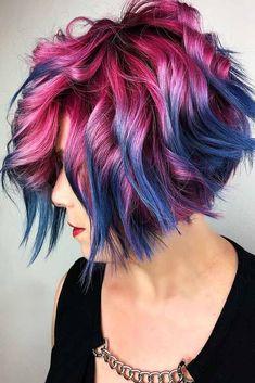 Trendy hair color dark to light haircuts Ideas Ombre Hair Color, Cool Hair Color, Funky Hair Colors, Blue Colors, Colours, Hair Colour, Funky Hairstyles, Hair Highlights, Short Hair Cuts