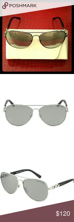 Michael KORS Fiji Sunglasses One of Michael?s absolute must-haves. The Fiji sunglasses offer a fresh take on the iconic aviator design. The defined bridge promises a sturdy fit, while the lightweight metal construction is comfortable and chic. Team them with each and every ensemble for the epitome of effortless cool.  Metal Frame  100% UV  MK Style 1003  Used. No scratches on the lenses. Comes with a cleaning cloth and  case. Michael Kors Accessories Sunglasses