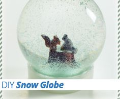 Learn how to make a #snow #globe just in time for the #holidays in this tutorial.