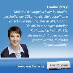 Frauke Petry will die Alternative für Deutschland am nächsten Sonntag in Sachsen erstmals in einen deutschen Landtag führen. Moritz Schwarz hat mit ihr gesprochen. (JF 35/14)
