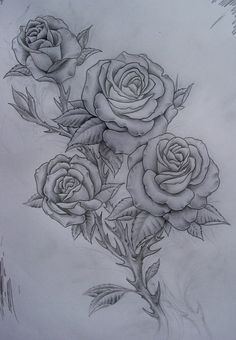 Beautiful tattoo ~ #roses #amazing #drawing