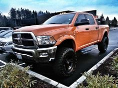 Not a fan of orange but doesn't look to bad on this truck