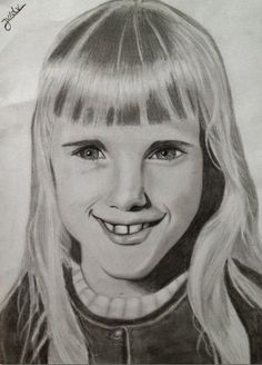 I made a drawing of my mother when she was a child.