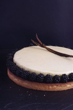 Tarte aux mûres et vanille