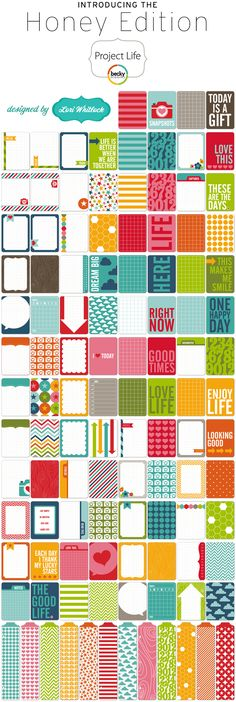 New Project Life Honey Edition!  Designed by Lori Whitlock of Echo Park, these will be in our store in May!!