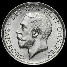 1918 George V Silver Shilling, A/BU