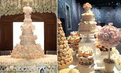Rosalind Miller recently made a luxury wedding cake for a very important wedding in the United Arab Emirates. This cake with the hundreds of sugar roses that