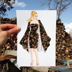 Top New 2020 year's amazing dress fashion illustration by edgar artis Fashion Design Drawings, Fashion Sketches, Look Fashion, Fashion Art, Dress Fashion, Silhouette Mode, Illustration Mode, Illustrations, Fashion Illustration Dresses
