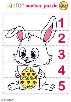 Easter themed Preschool Printables - Free worksheets, number puzzles - tracing letters, numbers and other activities - fun learning by BonTon TV Preschool Learning Activities, Free Preschool, Preschool Printables, Easter Activities, Easter Crafts For Kids, Fun Learning, Preschool Worksheets, Free Worksheets, Easter Worksheets