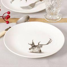 Reindeer China Side Plates