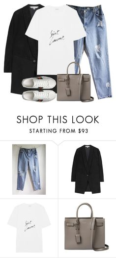 """Untitled #3150"" by elenaday on Polyvore featuring Levi's, STELLA McCARTNEY, Yves Saint Laurent and Gucci"