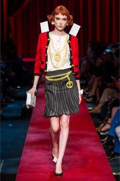 Moschino - Printed Cotton-blend Mini Skirt - Black - IT