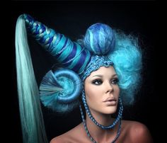Mermaid colour and Unicorn Avant Garde hair