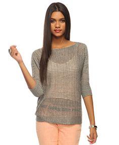 sweater + white tank dress