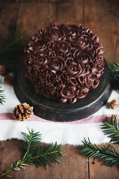 Espresso-Schoko Torte mit schokoladigem Kardamon Frosting