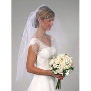 Darice VL3044 Shimmer Cut Edge Veil, 40 by 30-Inch, White by Darice. $12.97. Shimmer cut edge veil. Available in white color. Comes with an iridescent shimmer and a cut edge finish. Any bride would look beautiful in this simple and elegant white wedding veil. Measures 40-inch length by 30-inch width. Any bride would look beautiful in this simple and elegant white wedding veil. Comes with an iridescent shimmer and a cut edge finish. Available in white color. Measures 40...