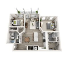 Avia exquisitely designed floor plans for apartment homes according to number of bedroom, open floor plan layouts with luxurious feel. Apartment Floor Plans, House Floor Plans, Studio Apartment, Apartment Design, Tiny Guest House, Living Place, Floor Plan Layout, House Layouts, Plan Design