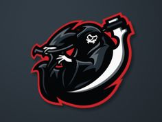 Find Grim Reaper Esport Gaming Mascot Logo stock images in HD and millions of other royalty-free stock photos, illustrations and vectors in the Shutterstock collection. Thousands of new, high-quality pictures added every day. Logo Esport, Art Logo, Logo Gamer, Game Logo Design, Esports Logo, Sports Team Logos, Design Art, Graphic Design, E Sport