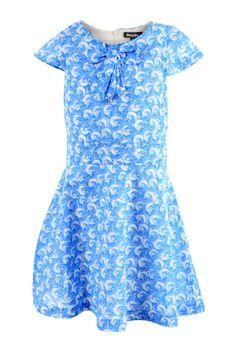 Meisjesjurk met blauwe print - Jurken - Kledij - Kids