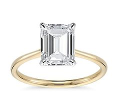 3 carat emerald cut engagement ring ... Can't go wrong with something so timeless