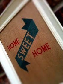 christabaca: Freebie! Home sweet home printable