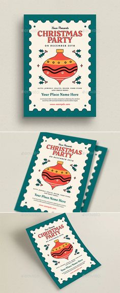 Christmas Event Flyer by guper   GraphicRiver Christmas Flyer, Color Change, Creative, Projects, Log Projects, Blue Prints