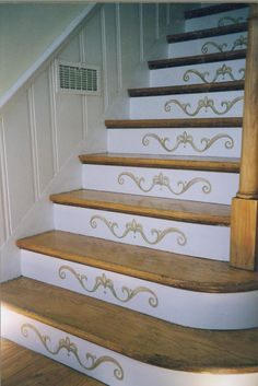 pictures of stairs | Decorating a Staircase - Home Stories A to Z stencil