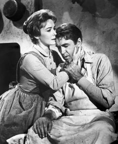 """James Stewart, Vera Miles in """"The Man Who Shot Liberty Valance"""" (1962). Country: United States. Director: John Ford."""