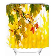 Attractive Leaf of Maple Tree 3D Printed Bathroom Waterproof Shower Curtain