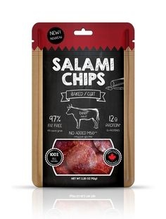 Salami chips packaging by Katerina Karagianni at Coroflot.com in MEAT: