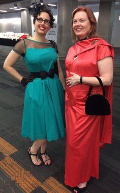 Retro Rack: Retro Turquoise & Black Mesh eShakti Cocktail Dress for WorldCon San Jose
