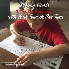 Setting Goals with Your Teen: Five Tips for Success @EvaVarga.net